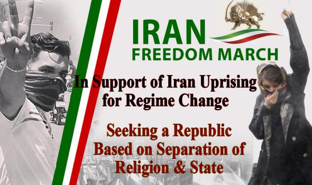 Iran Freedom Rally To Support Uprising For Regime Change