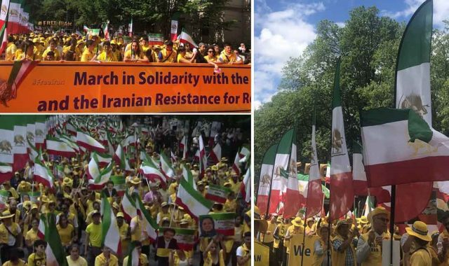 Iranians Washington Rally Call For Regime Change, Support For Iran's Resistance