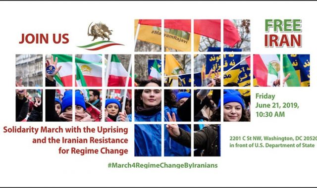 Washington Rally In Solidarity With Iranian People Uprising For Regime Change