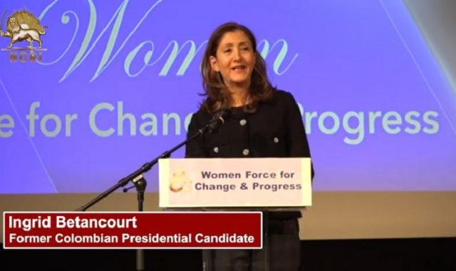 Ingrid Betancourt Expresses Support for Iranian Resistance at the IWD Conference in Sweden