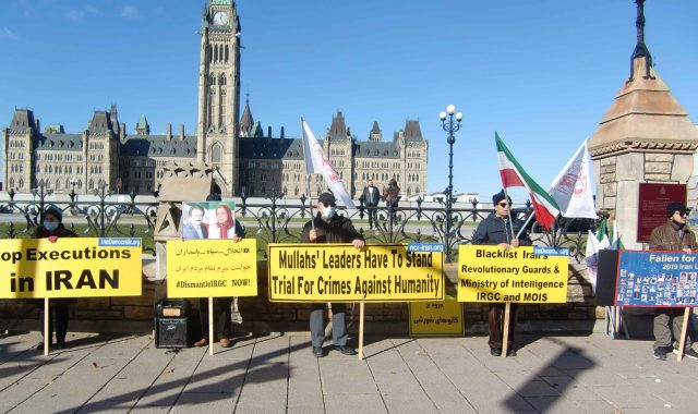 Iranians Commemorating Martyrs Killed by Regime Forces In November2019 Uprising In Iran- Ottawa.